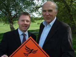 Nick Perry with Vince Cable