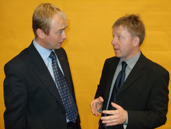 Nick Perry with Tim Farron