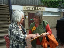 Anne canvassing in Ore