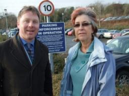 Nick with hospital campaigner and Lib Dem colleague, Margaret Williams